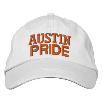 Austin pride embroidered baseball hat