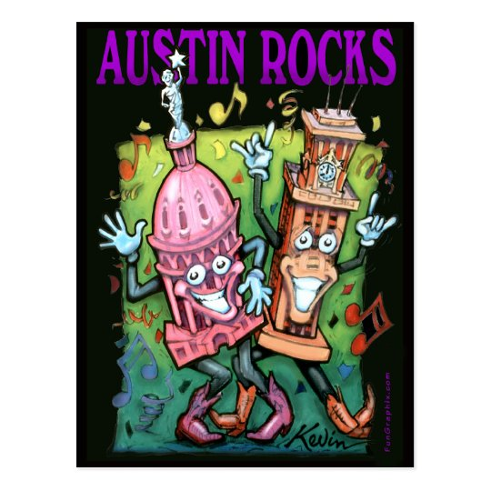 Austin Rocks Postcard