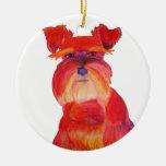Austin rojo ornamento de navidad