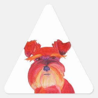 Austin rojo pegatina de trianguladas