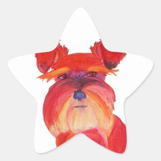 Austin rojo calcomanías forma de estrella personalizadas