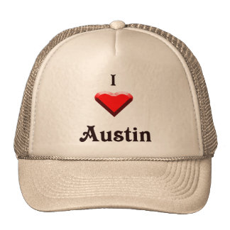 Austin -- Rojo y negro Gorro