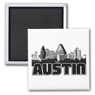 Austin Skyline 2 Inch Square Magnet