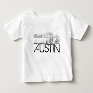 Austin Skyline Design Baby T-Shirt