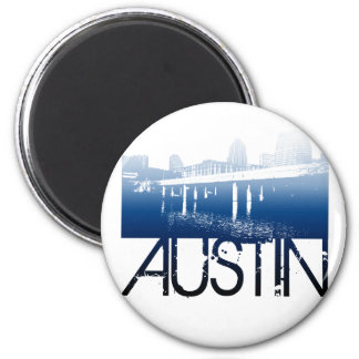 Austin Skyline Design Fridge Magnets