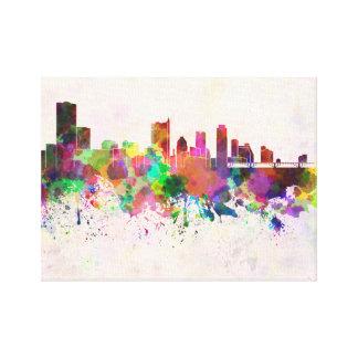 Austin skyline in watercolor background impresion en lona