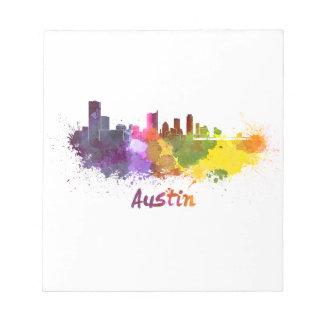 Austin skyline in watercolor blocs
