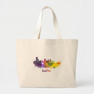 Austin skyline in watercolor bolsas lienzo