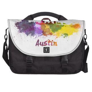 Austin skyline in watercolor bolsas para portátil