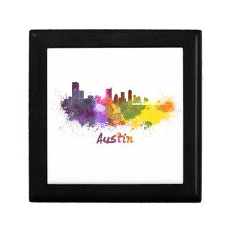 Austin skyline in watercolor cajas de regalo