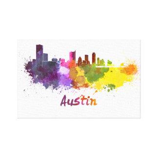Austin skyline in watercolor impresion de lienzo