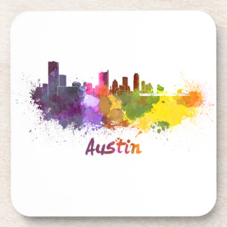 Austin skyline in watercolor posavaso