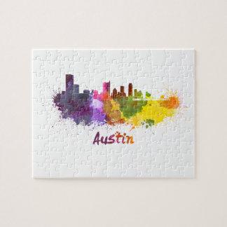 Austin skyline in watercolor puzzles con fotos