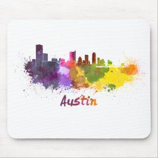 Austin skyline in watercolor alfombrilla de raton