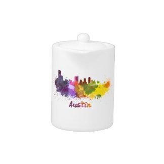 Austin skyline in watercolor