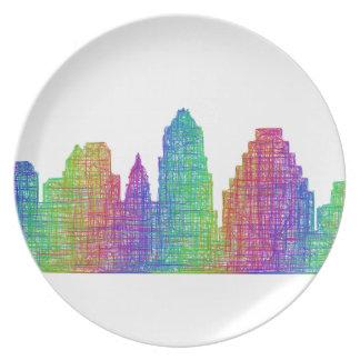 Austin skyline plate