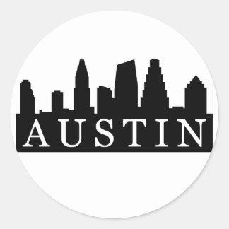 Austin Skyline Round Sticker
