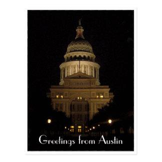 austin state capitol building border postcard