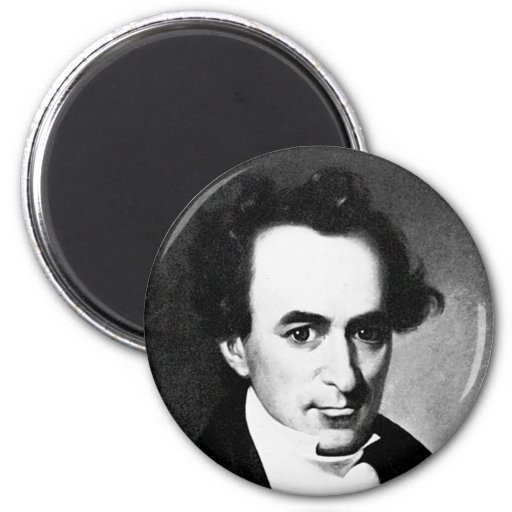 Austin ~ Stephen Fuller Father of Texas 2 Inch Round Magnet