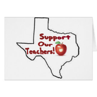 Austin - Support our teachers! Greeting Card