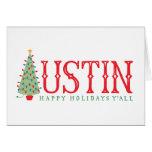 Austin, tarjeta del árbol de navidad de Tejas