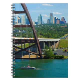 Austin, Tejas a partir del puente el 360 Libreta Espiral