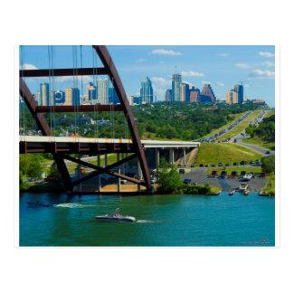 Austin, Tejas a partir del puente el 360 Tarjeta Postal