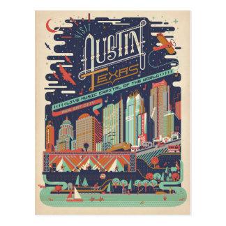 Austin, Tejas - AKA: Ciudad del palo Tarjetas Postales