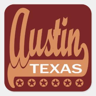Austin, Tejas Pegatinas Cuadradas
