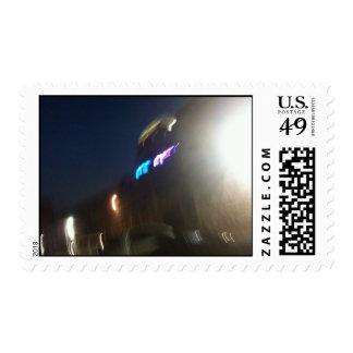 austiN Texas at Night stamp