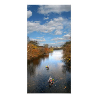 Austin Texas - Barton Creek Canoes Landscape Photo Art