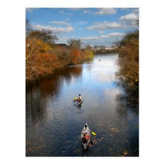 Austin Texas - Barton Creek Canoes Landscape Postcard