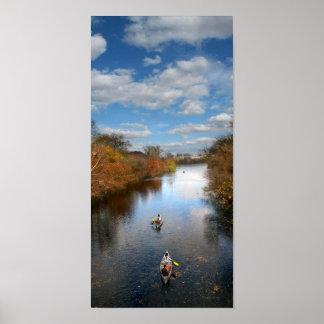 Austin Texas - Barton Creek Canoes Landscape Poster