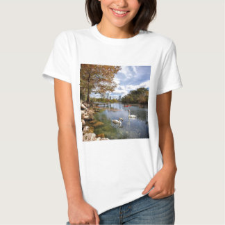 Austin, Texas Barton Creek / Ladybird Lake Swans T Shirt