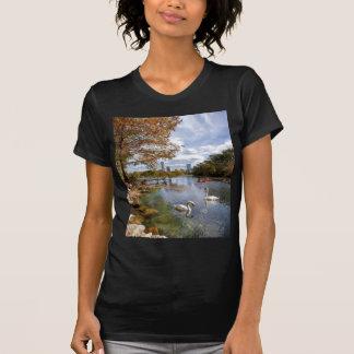 Austin, Texas Barton Creek / Ladybird Lake Swans Tee Shirt