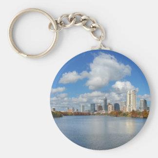 Austin Texas Boardwalk - Ladybird Lake - Skyline Keychain