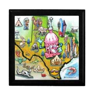 Austin Texas Cartoon Map Jewelry Box