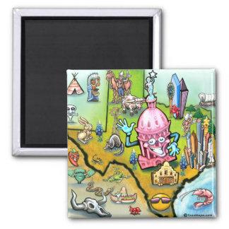 Austin Texas Cartoon Map Magnet