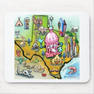 Austin Texas Cartoon Map Mouse Pad