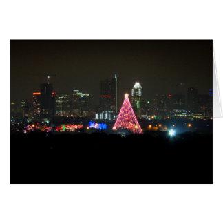 Austin Texas Christmas Trail of Lights Skyline Card