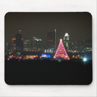 Austin Texas Christmas Trail of Lights Skyline Mouse Pad