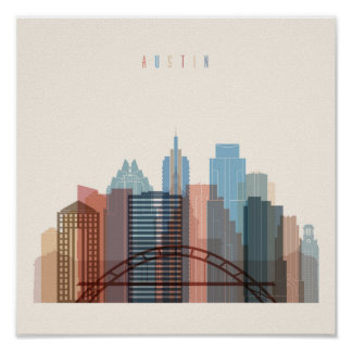 Austin, Texas | City Skyline Poster