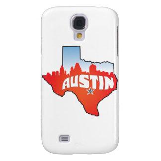 Austin Texas Cityscape Galaxy S4 Case