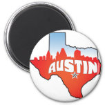 Austin Texas Cityscape Refrigerator Magnet