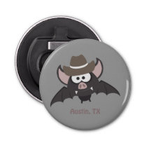 Austin, Texas - Cowboy bat Bottle Opener
