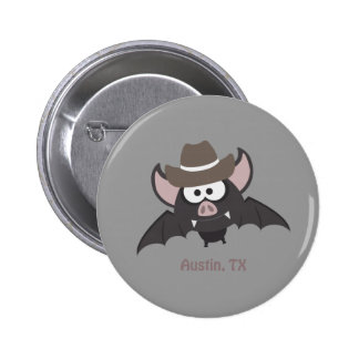 Austin, Texas - Cowboy bat Button