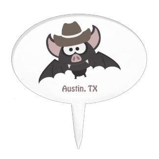 Austin, Texas - Cowboy bat Cake Toppers