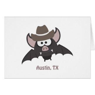 Austin, Texas - Cowboy bat Card
