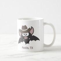 Austin, Texas - Cowboy bat Coffee Mug