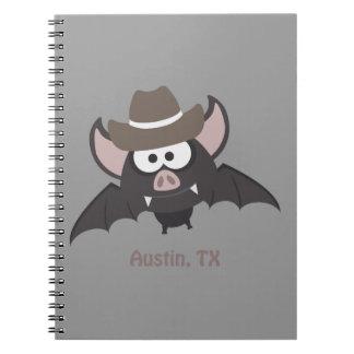 Austin, Texas - Cowboy bat Note Books